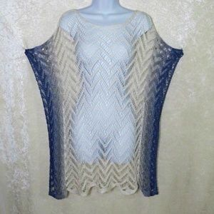 Tommy Bahama Crochet Linen Ombre Swim Cover Up